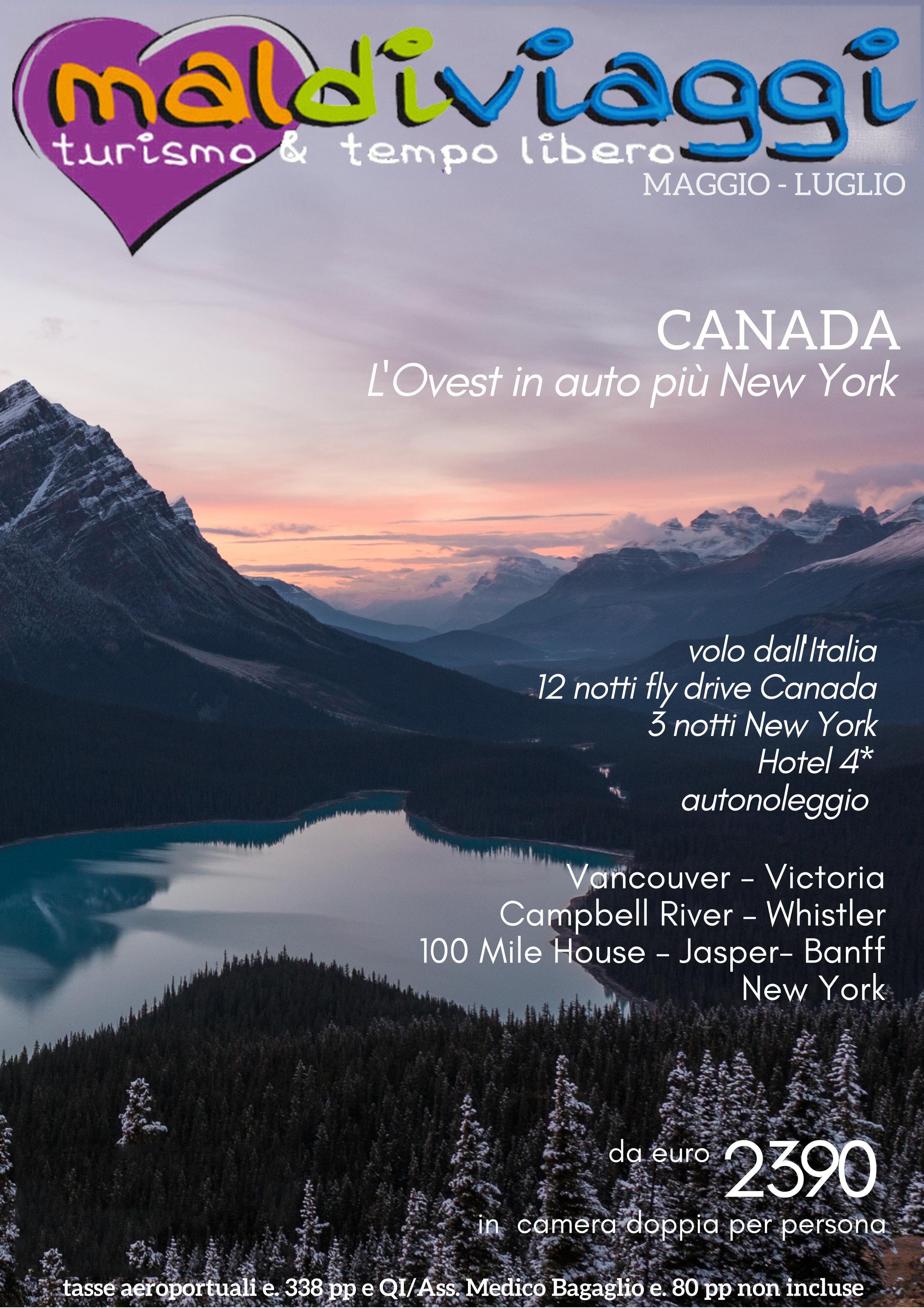 Canada-L'ovest in auto più New York