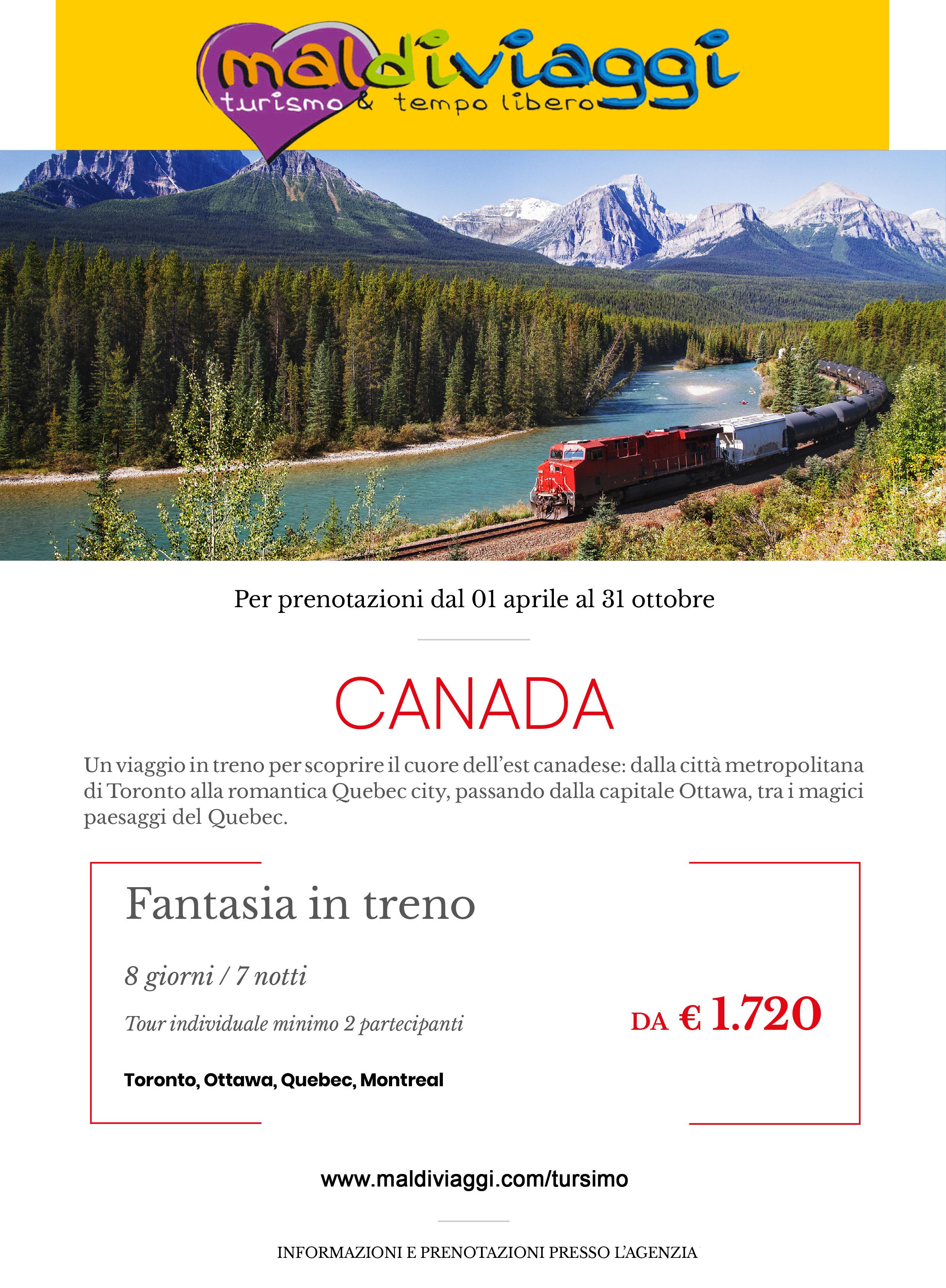 Canada fantasia in treno