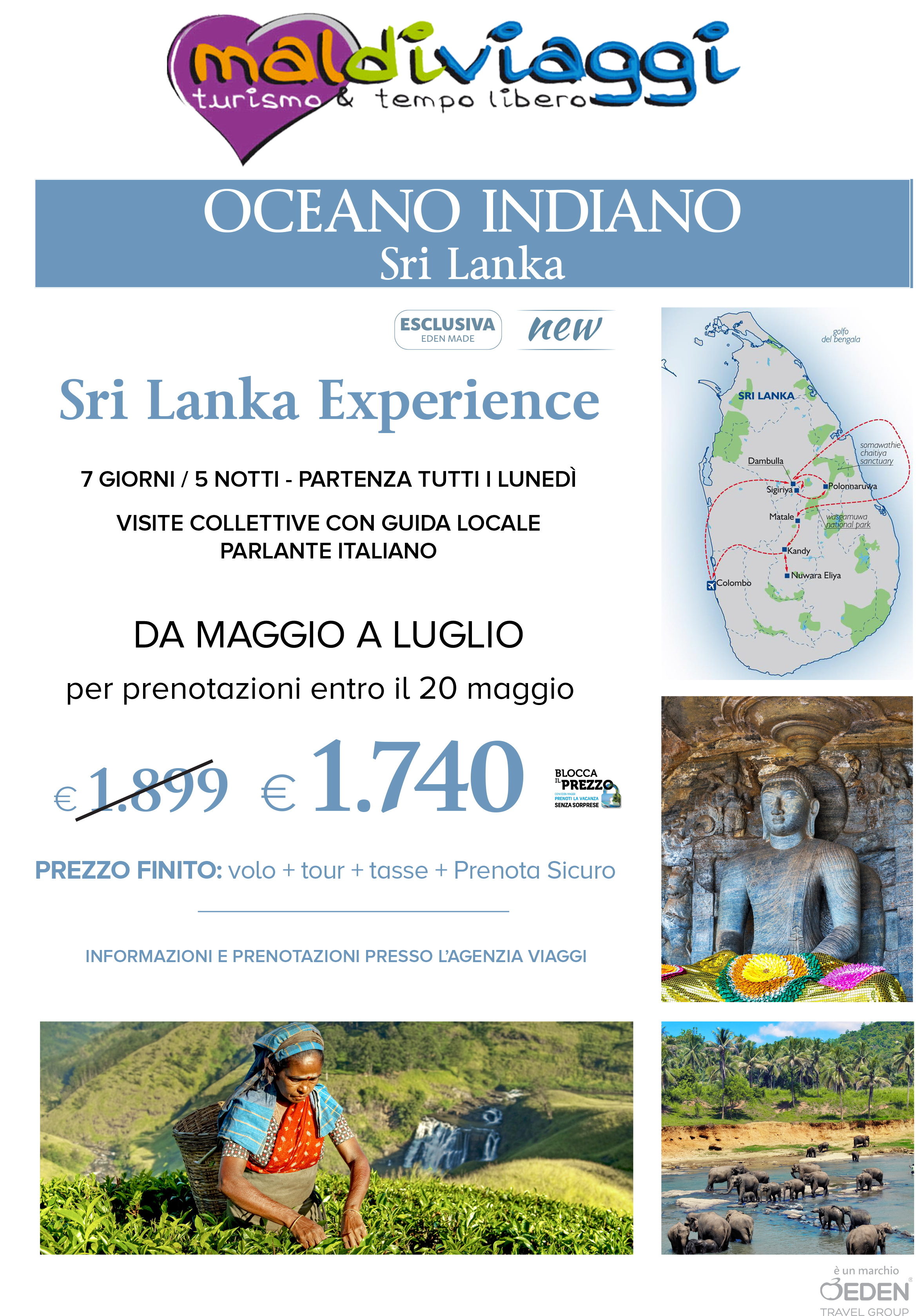 Oceano Indiano e Sri Lanka